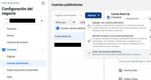 crear cuenta publicitaria en facebook